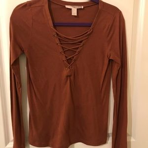 Lace Up Front Shirt